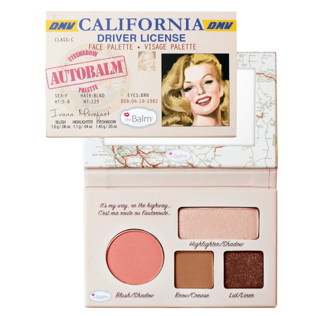 The Balm Autobalm CALIFORNIA make up paleta
