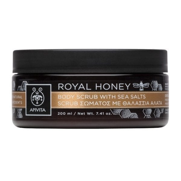 APIVITA Royal honey piling za tijelo s morskom soli