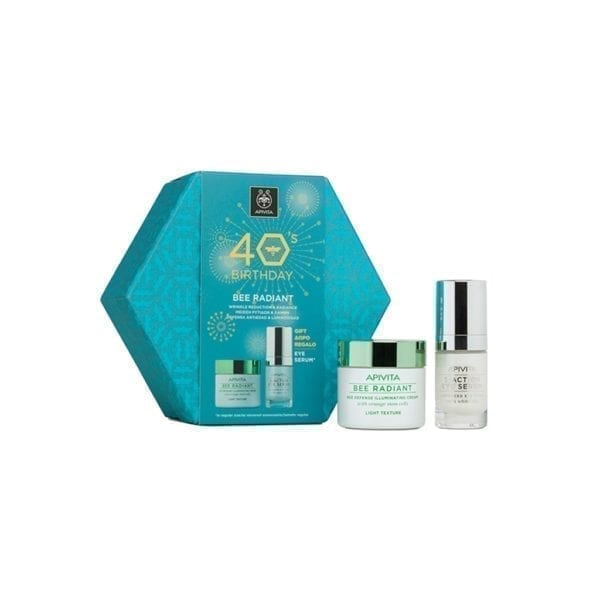 Apivita set 40 godina: Bee Radiant lagana krema + 5 Action serum za oči